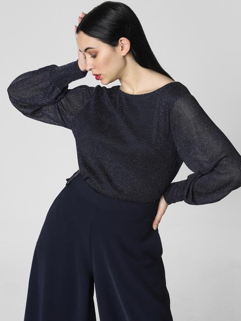 Navy Blue Shimmer Bodysuit
