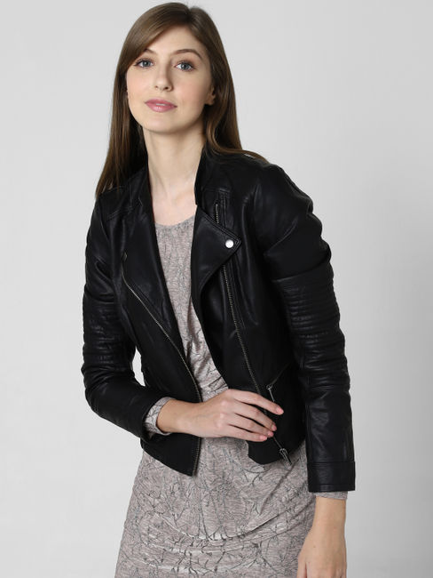 Black Short Biker Jacket