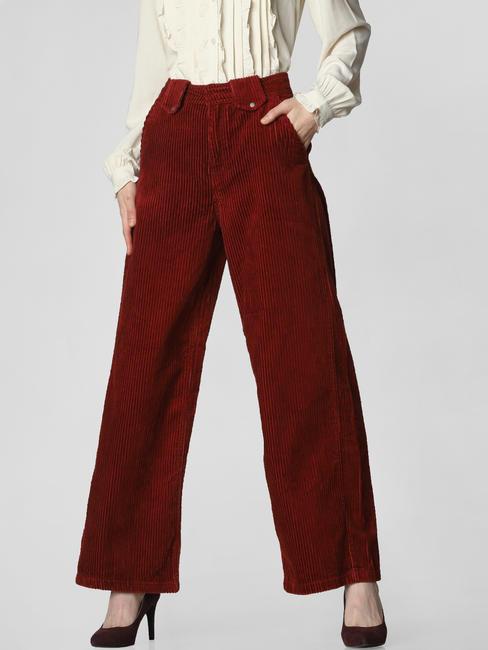 Dark Brown High Rise Corduroy Pants