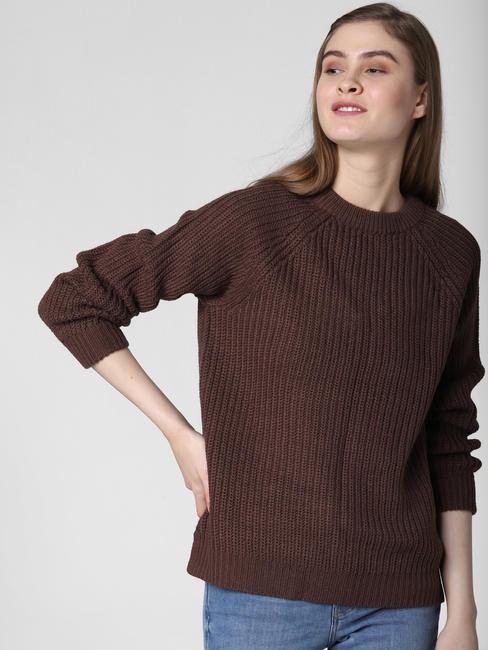 Dark Brown Pullover