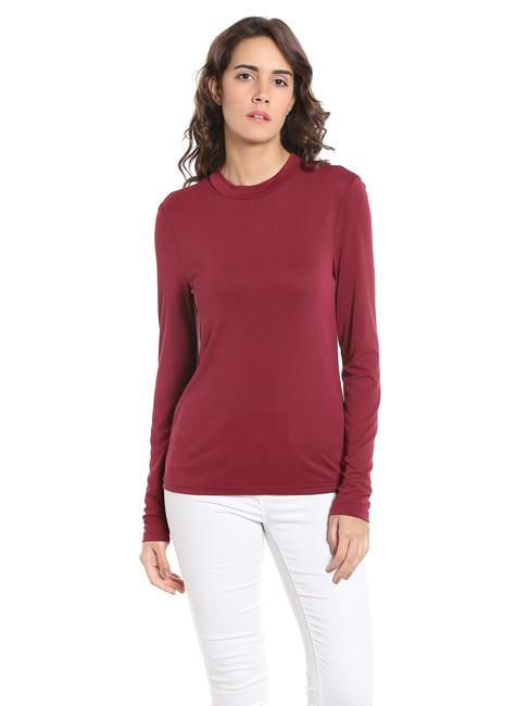 Maroon Slim Fit T-Shirt