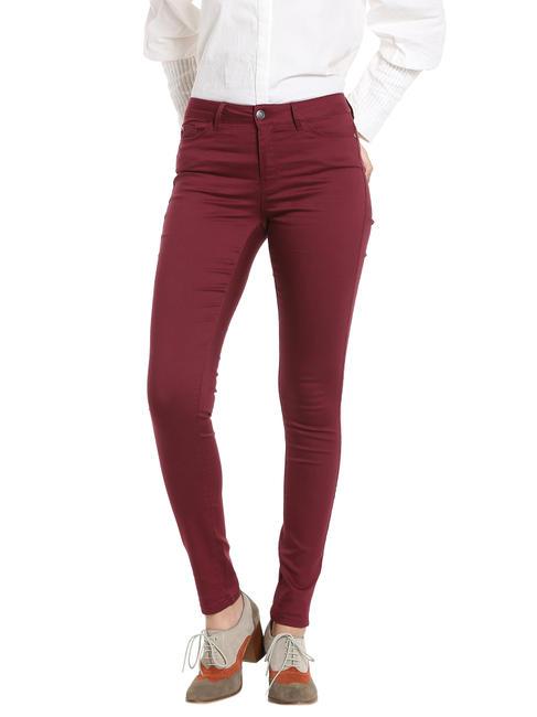 Red Regular Waist Slim Fit Pants