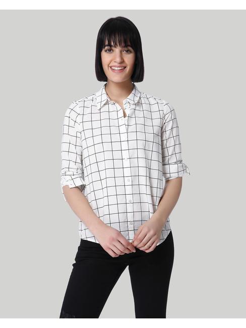 Black And White Check Shirt