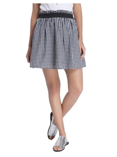 Black Gingham Mini Skirt