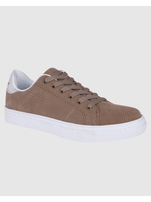 Brown PU Sneakers