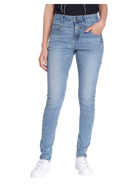 Light Blue High Waist Slim Fit Jeans