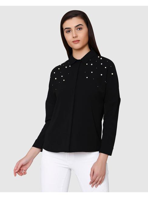 Black Pearl Studded Shirt