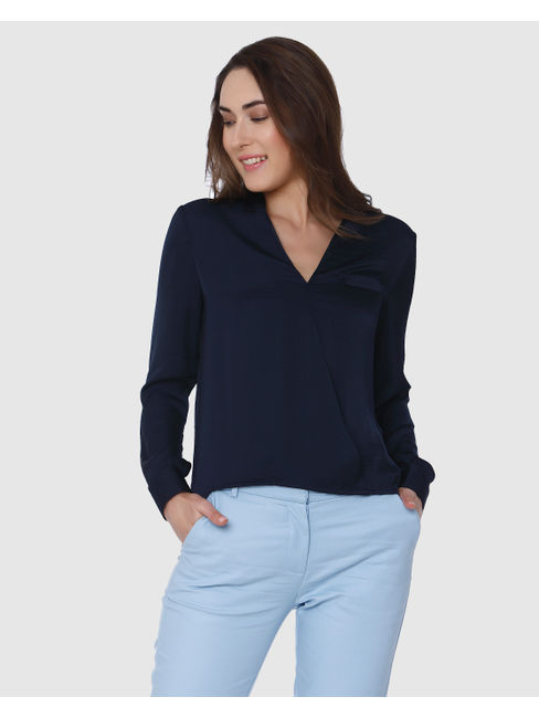 Dark Blue V-Neck Shirt