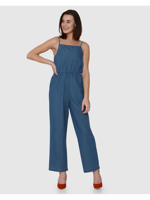 Blue Strappy Jumpsuit