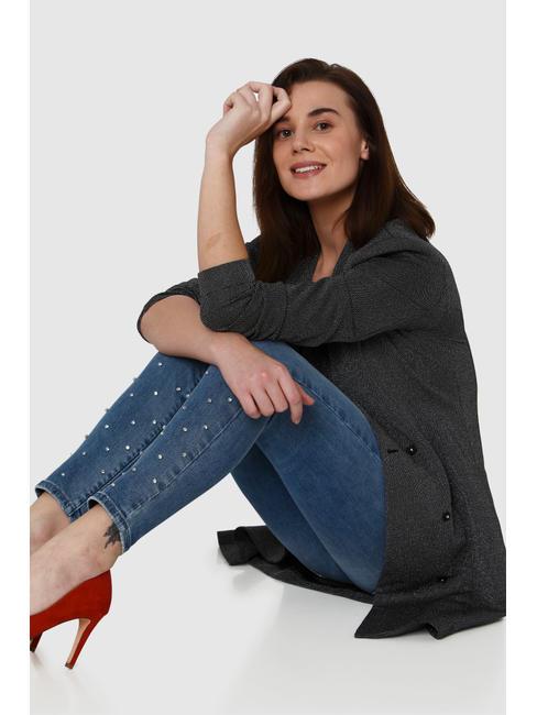 Blue Mid Rise Embellished Ankle Length Skinny Fit Jeans