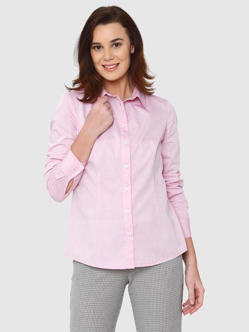 Pink Striped Formal Shirt