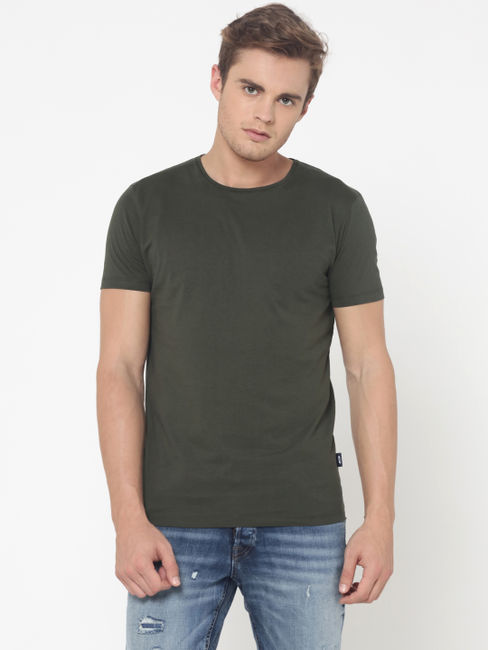 Olive Green Crew Neck T-Shirt