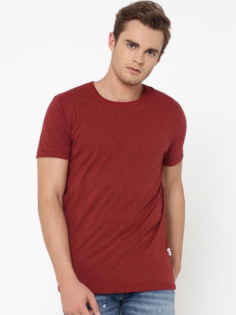 Maroon Crew Neck T-Shirt