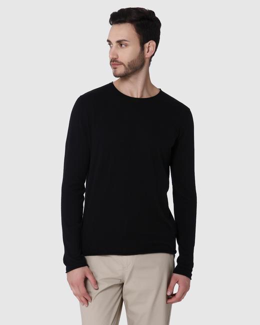 Black Crew Neck Pullover