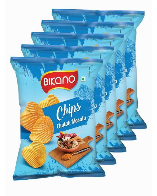 Bikano Chips Chatak Masala 60 gm (Pack of 5)