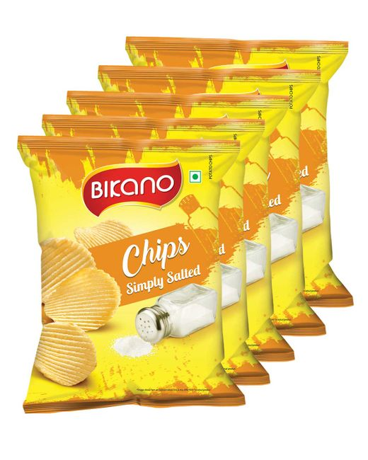 Bikano Chips - simply salted 60 gm (Pack of 5)