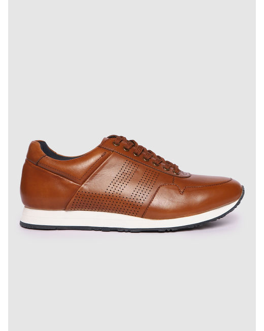 Dark Brown Perforated Sneakers