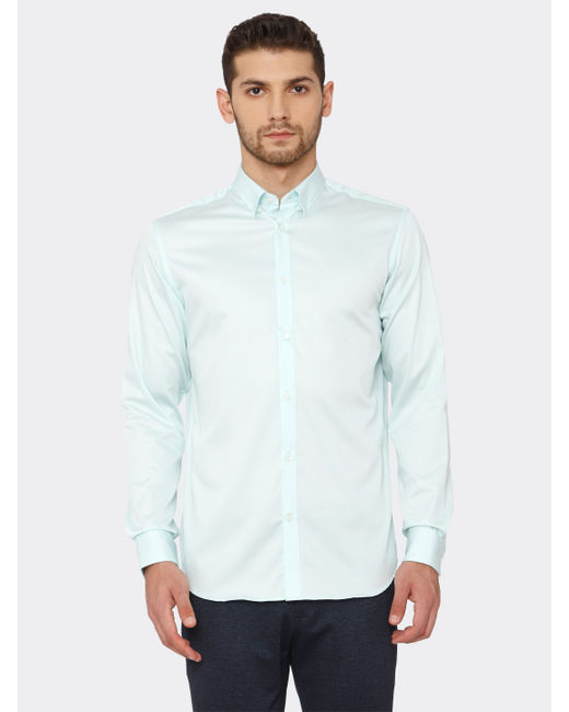 Light Blue Slim Fit Formal Shirt