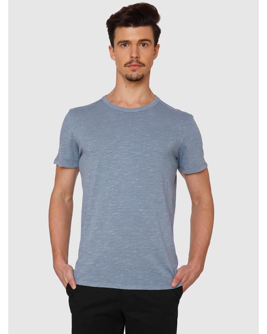 Blue Dyed Crew Neck T-Shirt