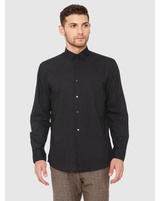 Black Loose Fit Formal Shirt