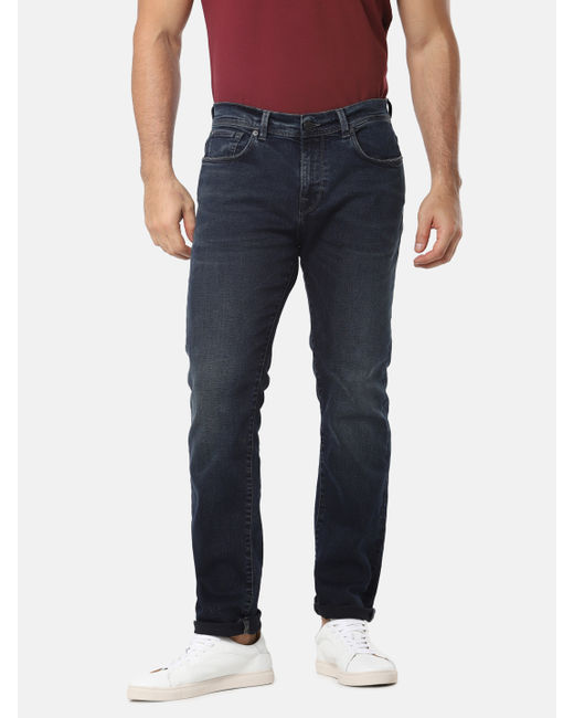 Blue Mid Rise Leon Slim Fit Jeans