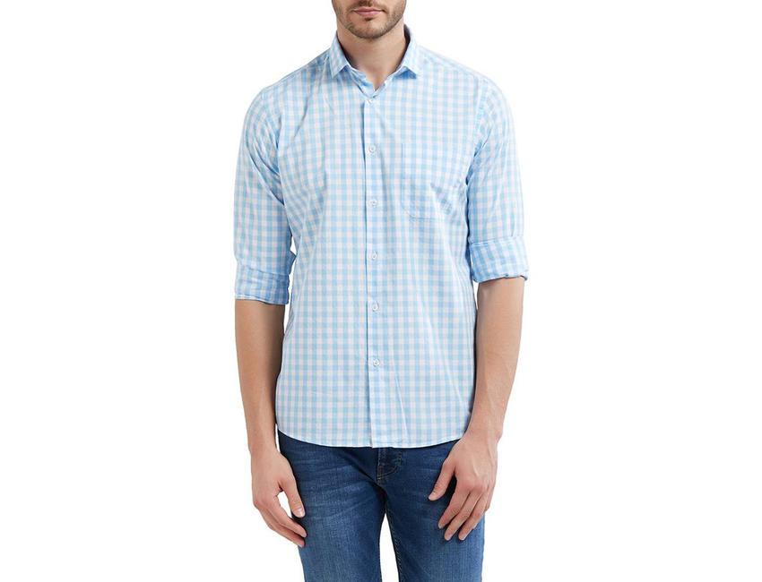 Checkered Multicolor Color Cotton Slim Fit Shirt
