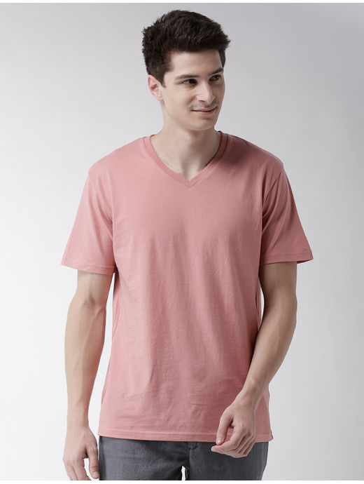 Dusty Pink Solid T-Shirt