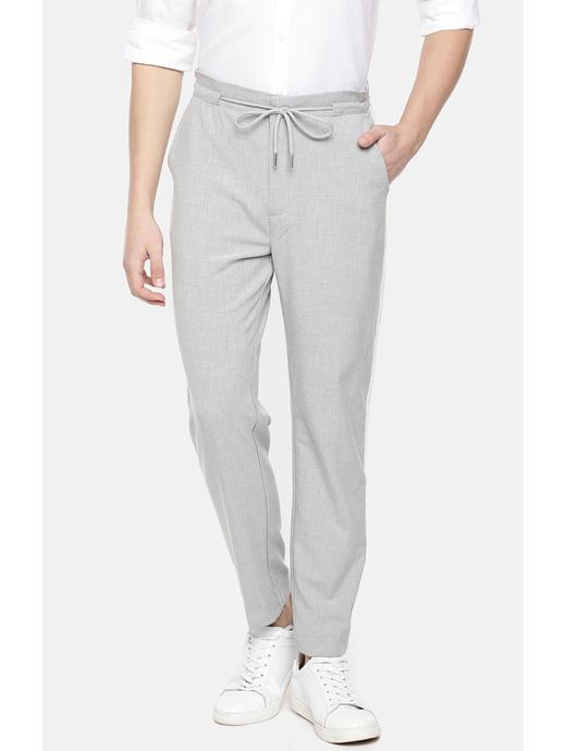 Grey Straight Slim Fit Chinos
