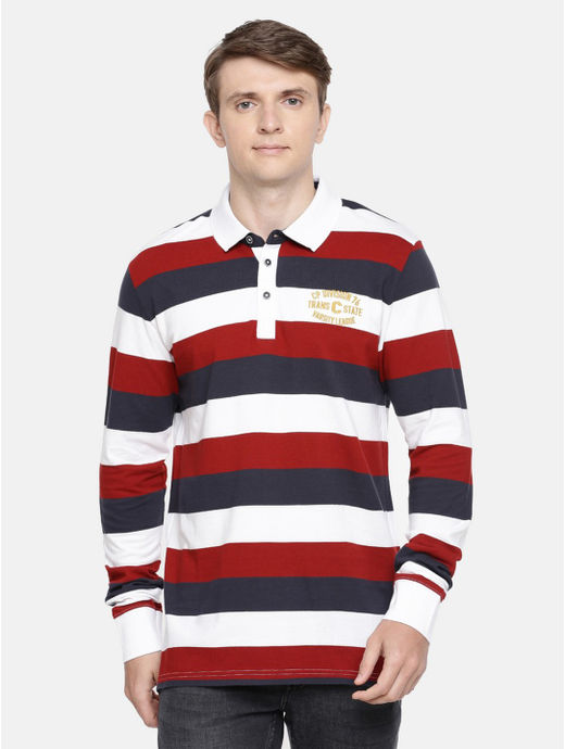 Multicoloured Striped Polo T-Shirt