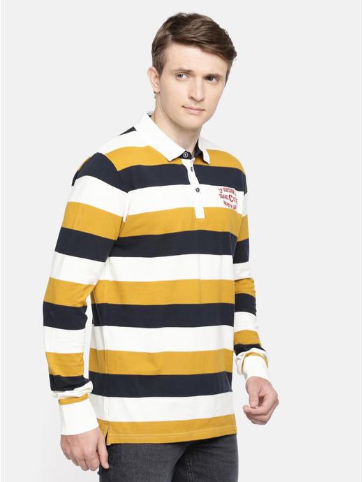 Multicoloured Striped Polo T-Shirt