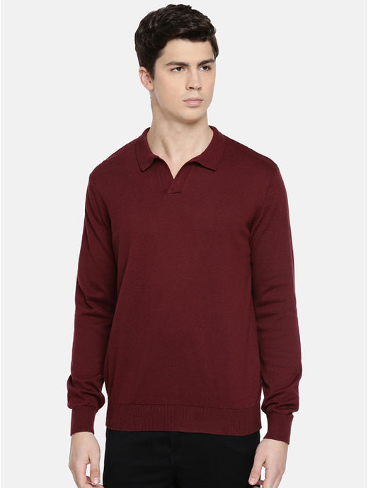 Burgundy Solid Sweatshirt