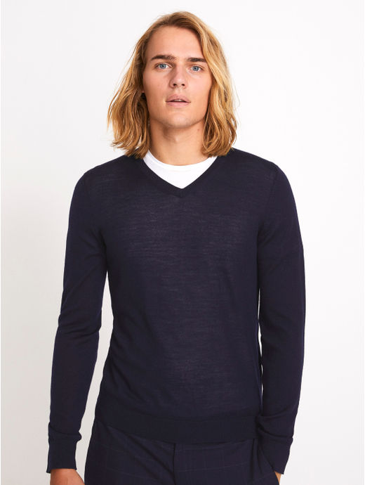Navy Solid Sweater