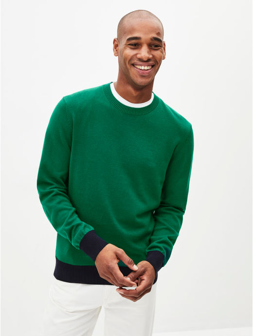 Green Solid Sweater
