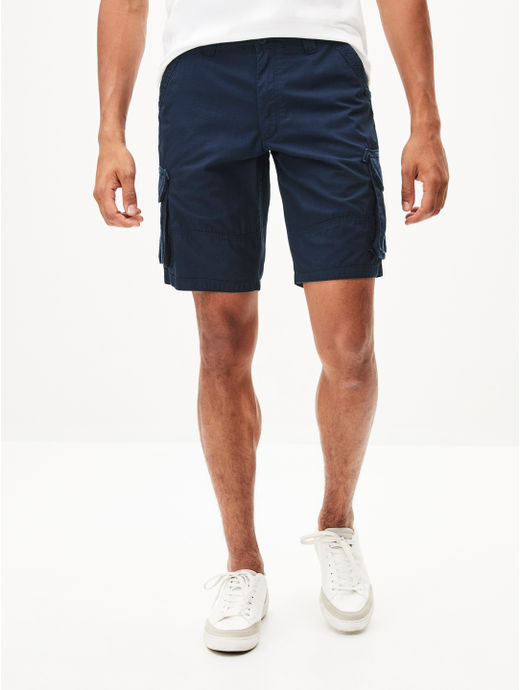Blue Solid Shorts
