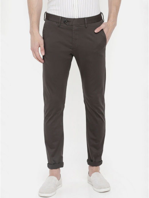 Charcoal Slim Fit Pants
