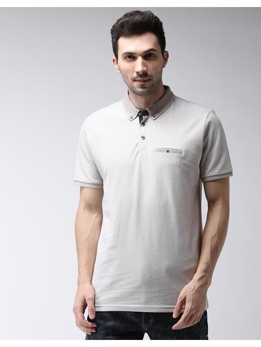 Light Sand Solid Polo T-Shirt