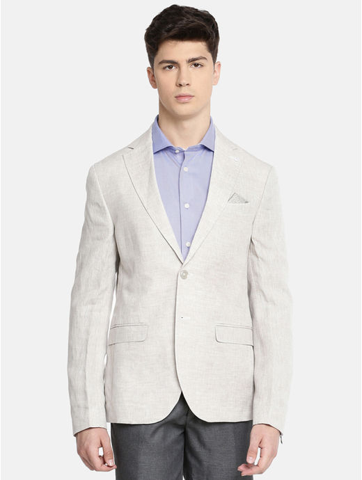 Grey Melange Slim Fit Blazer