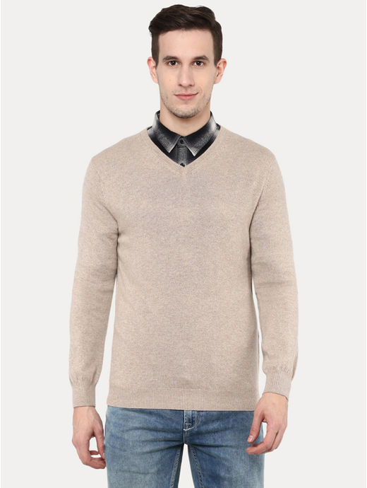 Beige Melange Sweater