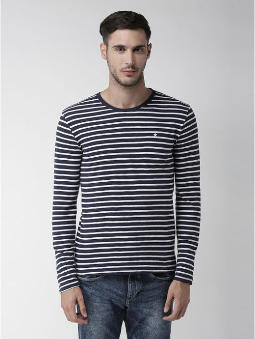 Navy Blue Striped T-Shirt