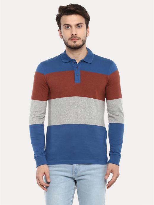 Multicoloured Colourblock Polo T-Shirt