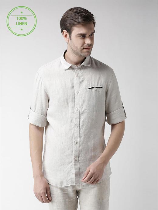 Fawn Melange Casual Shirt