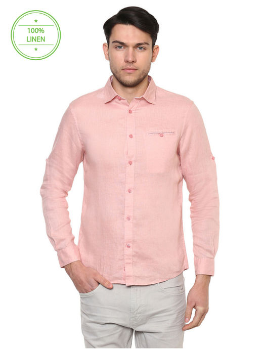 Old Pink Solid Casual Shirt