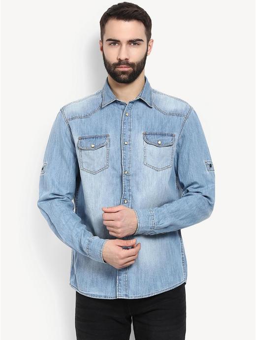 Light Blue Denim Casual Shirt