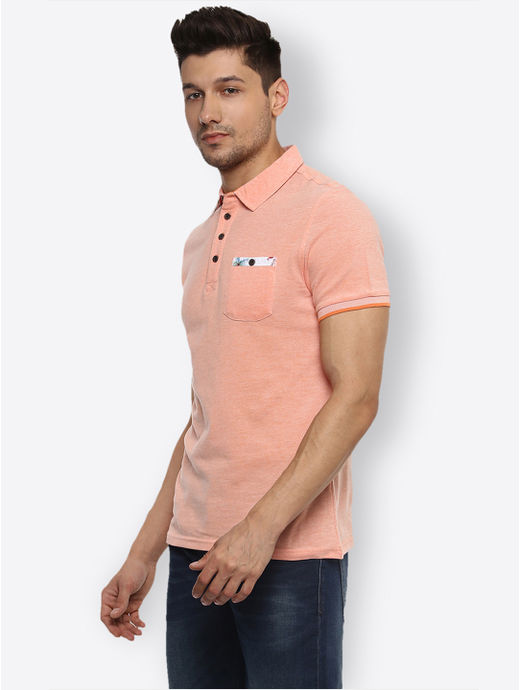 Orange Melange Polo T-Shirt