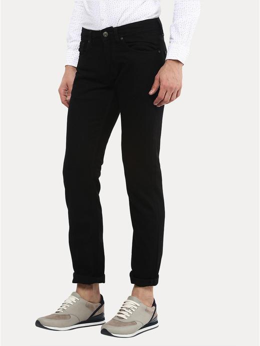 Black Straight Slim Fit Jeans