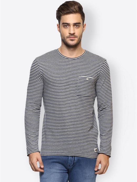 Khaki Striped T-Shirt
