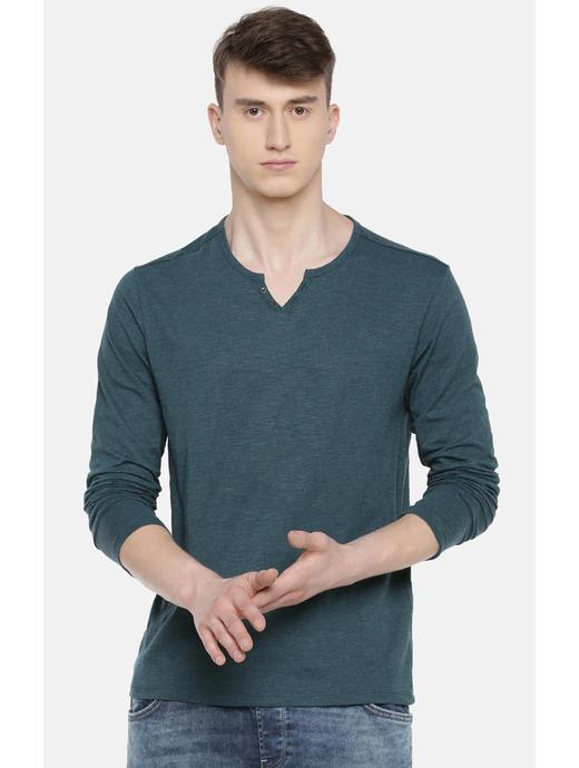Teal Melange T-Shirt