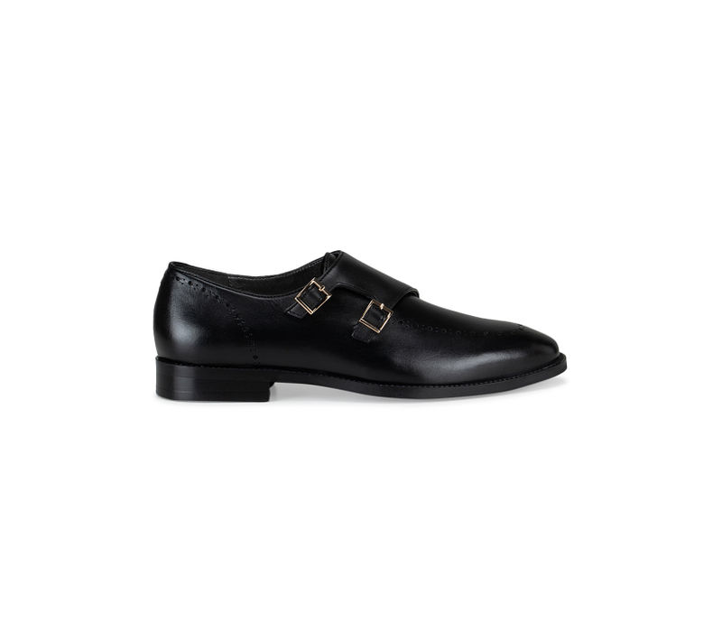 Black Monk Straps with Detailing