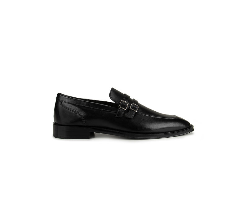 Black Plain Loafers