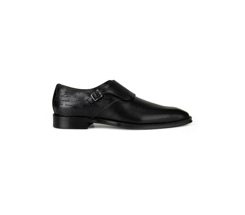 Black Plain Monk Straps